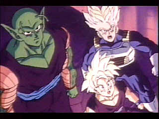 Trunks and Gohan are shocked...Piccolo's cool